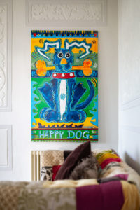 Self Catering Holiday Cottages, Woolacombe, Devon - First floor landing with designer art work