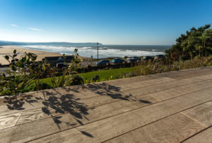 Self Catering Holiday Cottages, Woolacombe, Devon - Sea views from Memory House from Wooden Decking